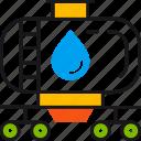 delivery, drop, logistics, oil, petrol, tank, transportation icon