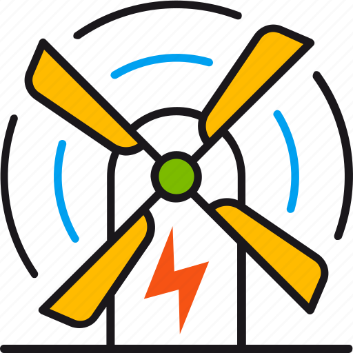 eco, ecology, electricity, energy, power, wind, windmill icon