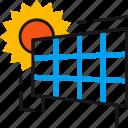 ecology, electricity, environment, light, panel, solar, sun icon