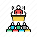 press, release, pr, strategy, events, interview icon