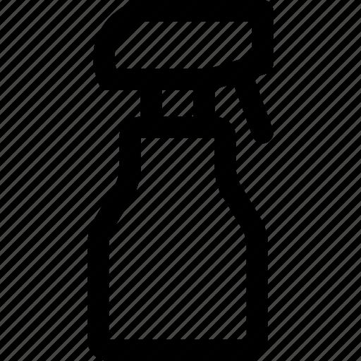 bottle, cleaner, disinfectant, liquid, nozzle, spray, squirt icon