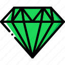 diamond, gem, jewelry, precious, stone icon