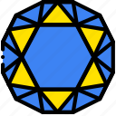 diamond, gem, jewelry, precious, sapphire, stone icon