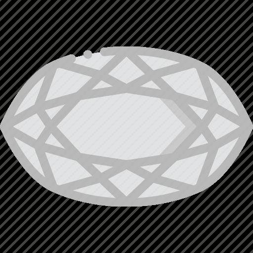 crystal, diamond, gem, jewelry, pea, precious, stone icon