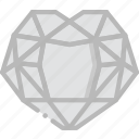 diamond, gem, jewelry, precious, stone, topaz icon