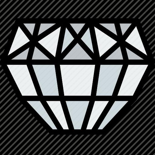 diamond, gem, jewelry, precious, stone icon