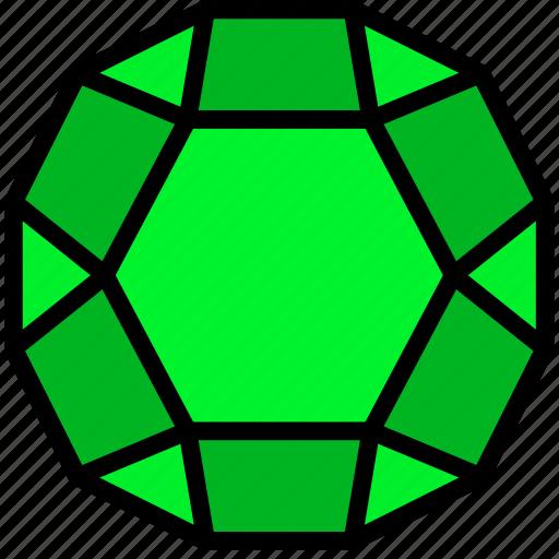 crystal, diamond, gem, jewelry, precious, stone icon