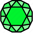diamond, emerald, gem, jewelry, precious, stone icon