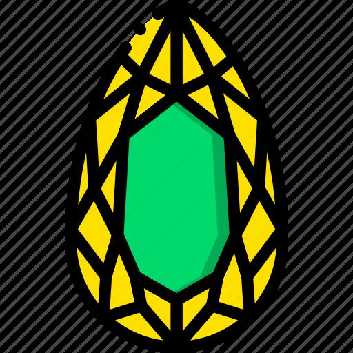 diamond, gem, jewelry, precious, sapphire, stone icon