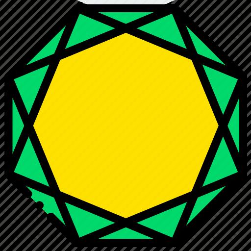 diamond, gem, jewelry, morion, precious, stone icon