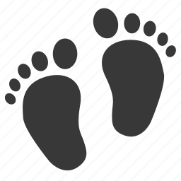 baby, baby step, foot, footprint, infant, newborn, steps icon
