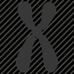 chromosome, dna, gender, gene, science, sex, x icon