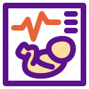 baby, birth, monitor, parents, pregnant icon