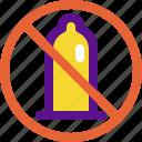 baby, condom, no, pregnant icon