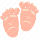 baby, child, feet, infant, pregnancy icon