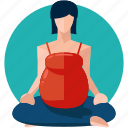 exercise, female, pregnancy, woman, yoga icon