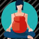 exercise, female, pregnancy, woman, yoga icon