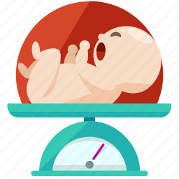 baby, health, medical, pregnancy, scale, weigh icon