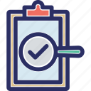 authentic report, medical document, medical prescription, medical record, verified medical report icon