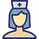 attendant, caretaker, medical attendant, nurse, therapist icon