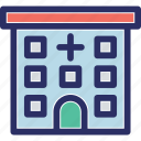 building, clinic, healthcare, hospital, medical centre icon