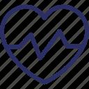 cardio, ecg, heartbeat, premium heartbeat, pulses icon