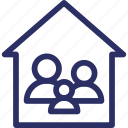 beautiful family, family complete, family home, family house, family relationship icon