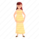 adult, attractive, dress, girl, long, pregnant icon