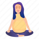 girl, lotus, maternity, meditating, meditation, pregnant
