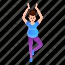 doing, exercise, girl, pregnancy, pregnant, yoga