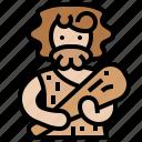 ancestor, caveman, club, primitive, stone icon