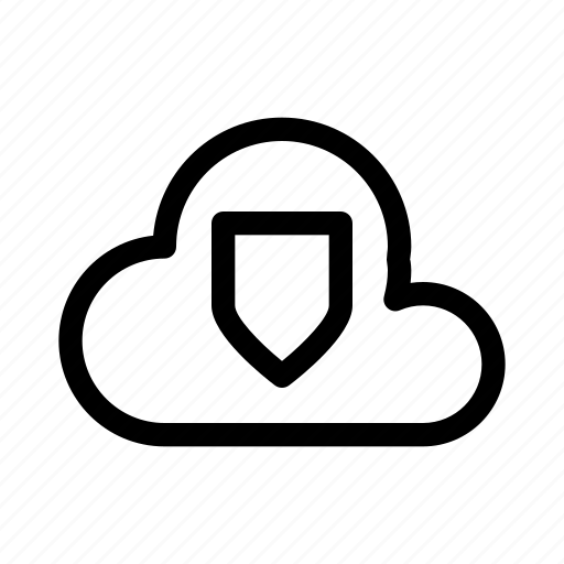 cloud, computer, data, secure, security, server icon