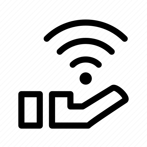 connection, free, gift, hand, wifi icon