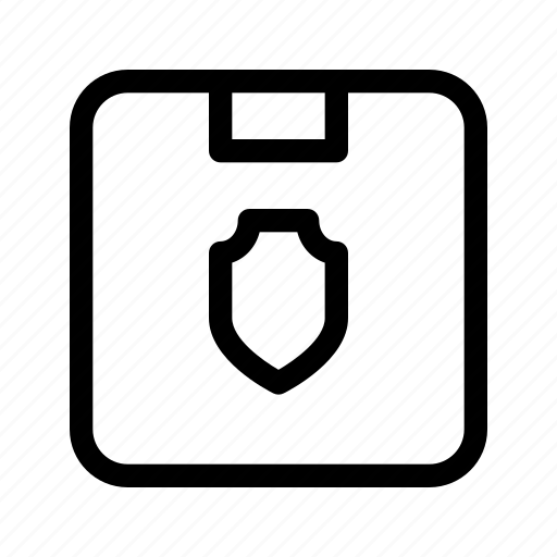 delivery, package, parcel, secure, shield icon
