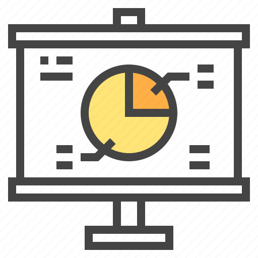 business, chart, circle, presentaion, report, statistic icon
