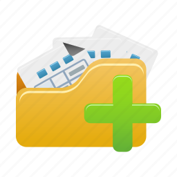 add, document, documents, file, folder, open, to icon