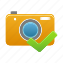 accept, camera, check, image, photo, picture, pictures icon