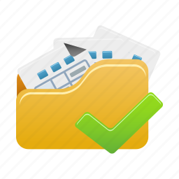 accept, document, documents, file, files, folder, open icon