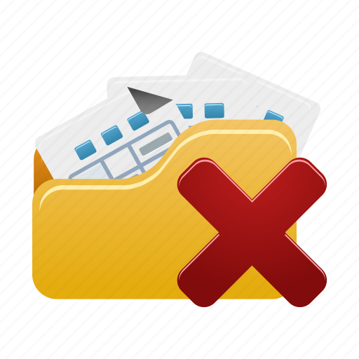 delete, document, documents, file, folder, open, remove icon