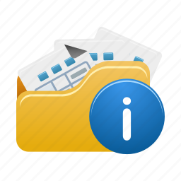 document, documents, file, files, folder, info, open icon