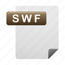 document, documents, file, files, format, swf icon