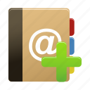 add, addressbook, new, notebook, notepad icon