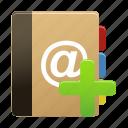 add, addressbook, new, notebook, notepad