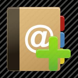 add, addressbook, new, notebook, notepad icon