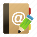 addressbook, edit, notebook, notepad, writing icon