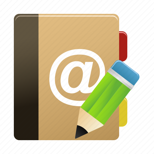 Addressbook, edit, notebook, notepad, writing icon - Download on Iconfinder