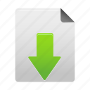 arrow, document, down, download, file, guardar, save icon