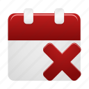 calendar, date, day, delete, event, remove, schedule icon