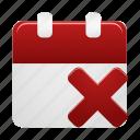 event, remove, calendar, date, day, delete, schedule