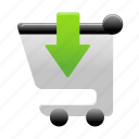 add, buy, cart, insert, shopping, shopping cart icon